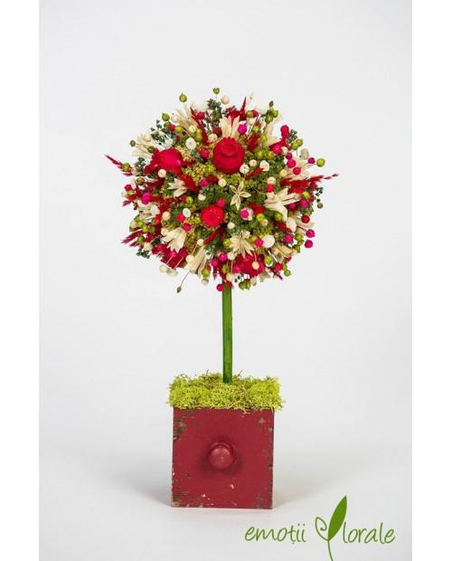 Copac colorat cu flori naturale uscate - PR1M63