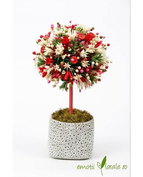 Copac colorat cu flori naturale uscate - PR1M64