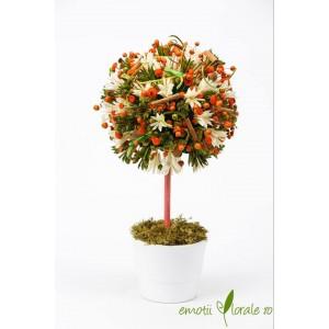 Copac colorat cu flori naturale uscate - PR1M65