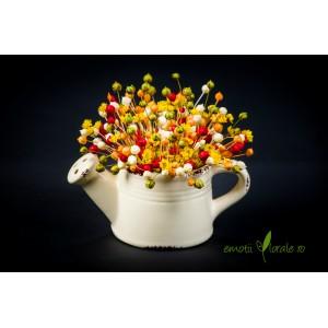 Stropitoare ceramica cu flori naturale uscate V14P16