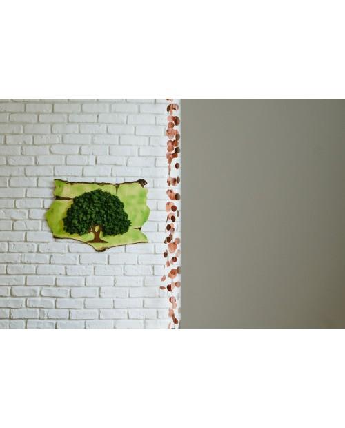 Tablou verde copac cu licheni stabilizati ER4498